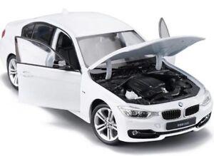 BMW-335I-serie-3-escala-1-24-modelo-de-coche-metal-miniatura-blanco-335-I-De-Metal