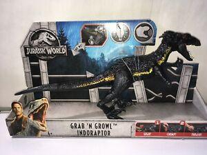 Mattel Jurassic World 2 Fallen Kingdom GRAB N GROWL INDORAPTOR RAPTOR IN STOCK