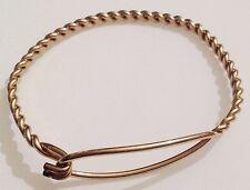 bracelet vintage couleur or métal travaillé torsadé déco boucle en fermeture 438