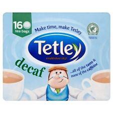 Tetley Decaf  Decaffeinated 160 Tea Bags 500g Brand New