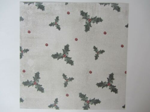 """12 x  Papers 6/"""" x 6/"""" Festive Fauna Set 1  For Cardmaking /& Scrapbooking"""