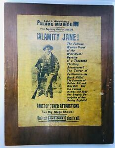 CALAMITY-JANE-PARCHMENT-PAPER-ON-WOOD-PLAQUE-14-1-2-034-X-11-1-2-034