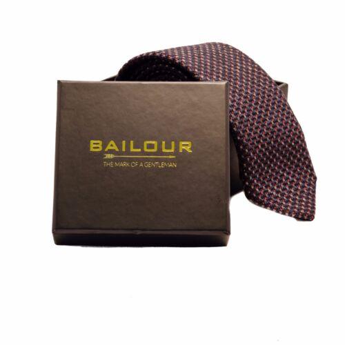 BAILOUR Handmade Textured Wool Skinny Slim Mens Tie