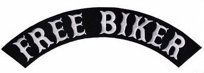 "Lone Wolf Top Rocker Biker Motorcycle Rider Jumbo XL Back Patch 13/"" x 2/"""