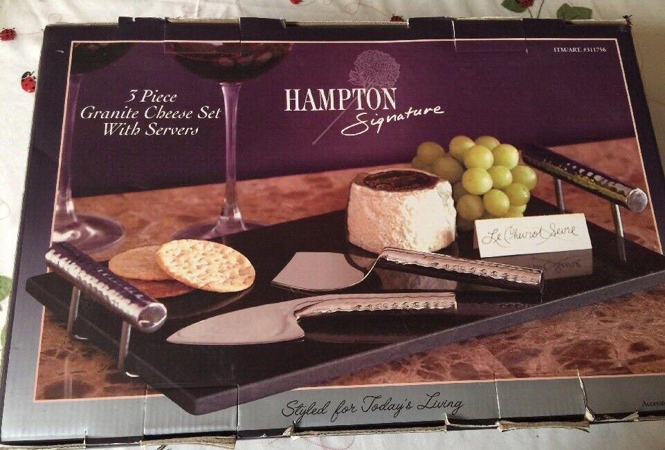 Hampton Signature 3 Pièces Granit fromage Set avec serveur