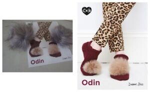Slippers-in-C-B-Odin-CB029-Leaflet-by-Debbie-Bliss-With-2-Pom-Poms