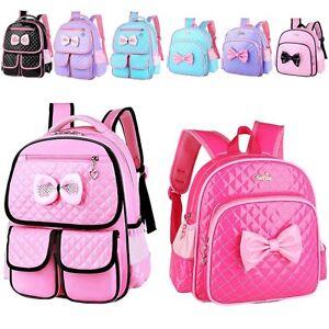New Kids Children Girls Princess Schoolbag Book Bags Backpack ...