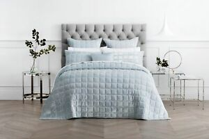 SHERIDAN-Canfield-Bed-Cover-Super-King-King-Queen-Bed-size-Pale-Blue