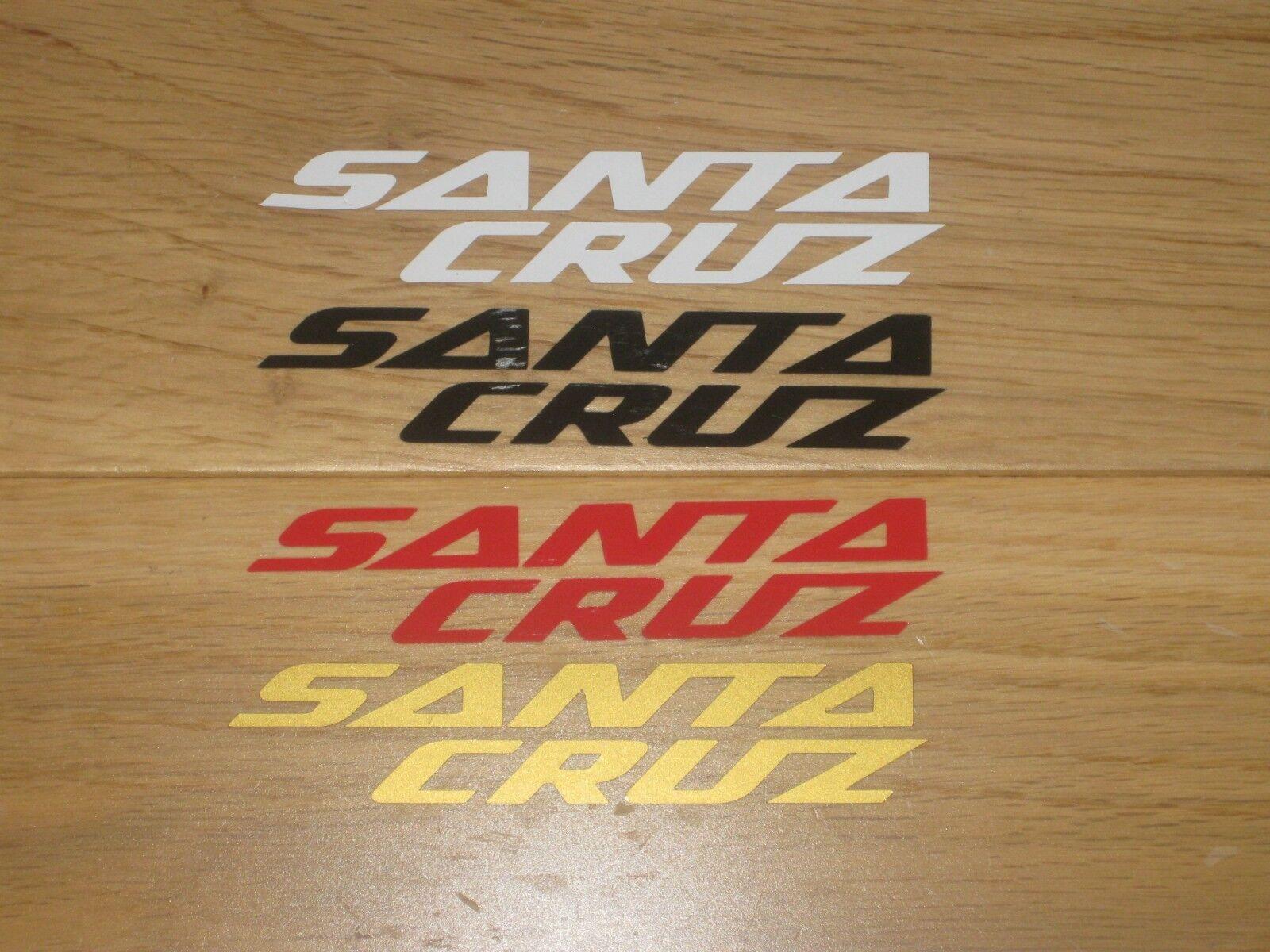 4 Santa Cruz imprimé DECAL STICKERS MOTO DECAL imprimé cycling frame forks Téléphone Casque Box 5751e5