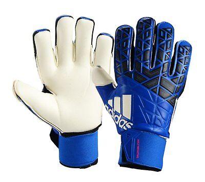 A merced de ANTES DE CRISTO. Excluir  Adidas Men GK ACE Half Negative Goalkeeper Gloves Blue Soccer Goalie AZ3688    eBay