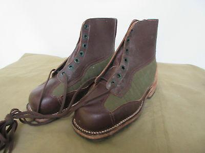 Fashion Style Army Service Boots Stivali Coi Lacci Vero Vintage Di Pelle Originale Heritage 41 Alleviare Il Caldo E Il Colpo Di Sole