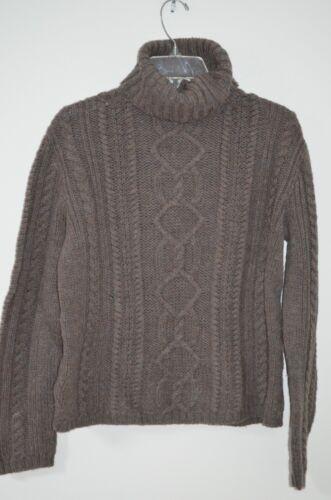 James taglia 100 Cable maglione lana S collo Paul Knit Brown alto Chunky dnd6TW