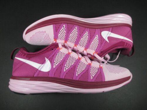 free shipping 2ab95 97643 4 sur 8 Nib Nike Flyknit Lunar2 Chaussures Course Baskets 620658-615 Rose  FEMMES