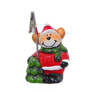 Kartenhalter-Weihnachten-034-Elch-034-Keramik-handbemalt-Tischdekoration-8x5cm