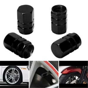 4PCS-Pack-Black-Tire-Wheel-Rims-Stem-Air-Valve-Caps-Tyre-Cover-Car-Truck-Bike