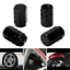 4PCS-Pack-Black-Tire-Wheel-Rims-Stem-Air-Valve-Caps-Tyre-Cover-Car-Truck-Bike thumbnail 1