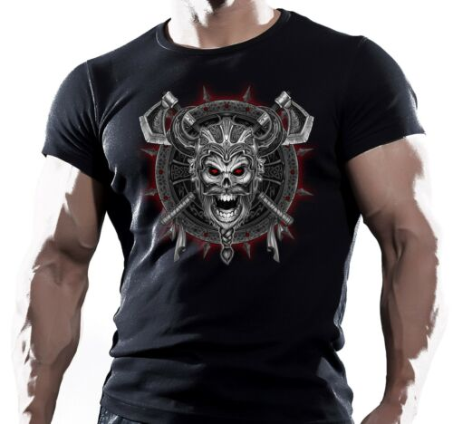 Viking Crâne Bouclier MMA Lutte Entraînement motivation Hommes T Shirt UFC Muay Thai