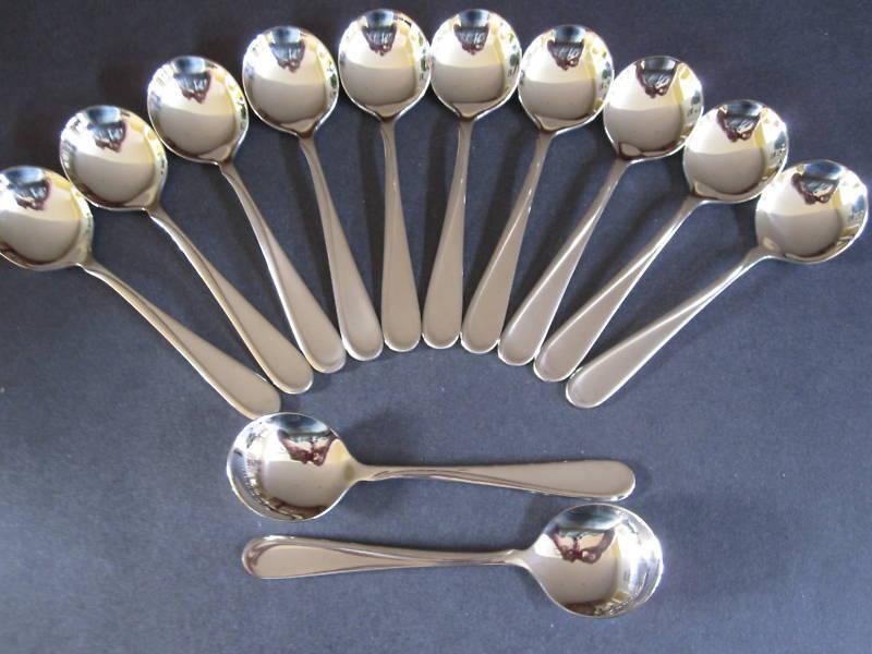 12 vol Crème Bouillon cuillères Oneida NEUF 18 8 S S Livraison gratuite états-Unis Uniquement