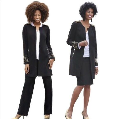 Pant 26w Ashro Black Skirt 20w Plus Suit Khloe Size 14 12 Gold Wardrober wXqT6