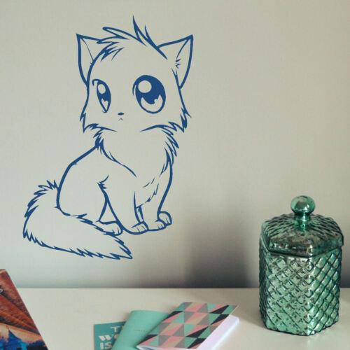 Casa Gato Pegatinas De Pared Decoración De Transferencia Gráfico Calcomanía Gatito Stencil Pussy Kitty