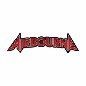 Airbourne-Logo-Coupe-Sortie-Tisse-Patch-a-Coudre-Officiel-Licence-Bande-March