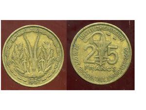 Afrique Occidentale Francaise 25 Francs 1957 ( Bis ) Achat SpéCial