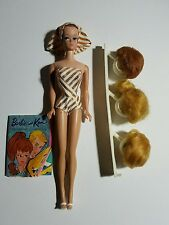 Barbie Fashion Queen #870 1960's Doll, Wigs, Stand, Shoes and Booklet