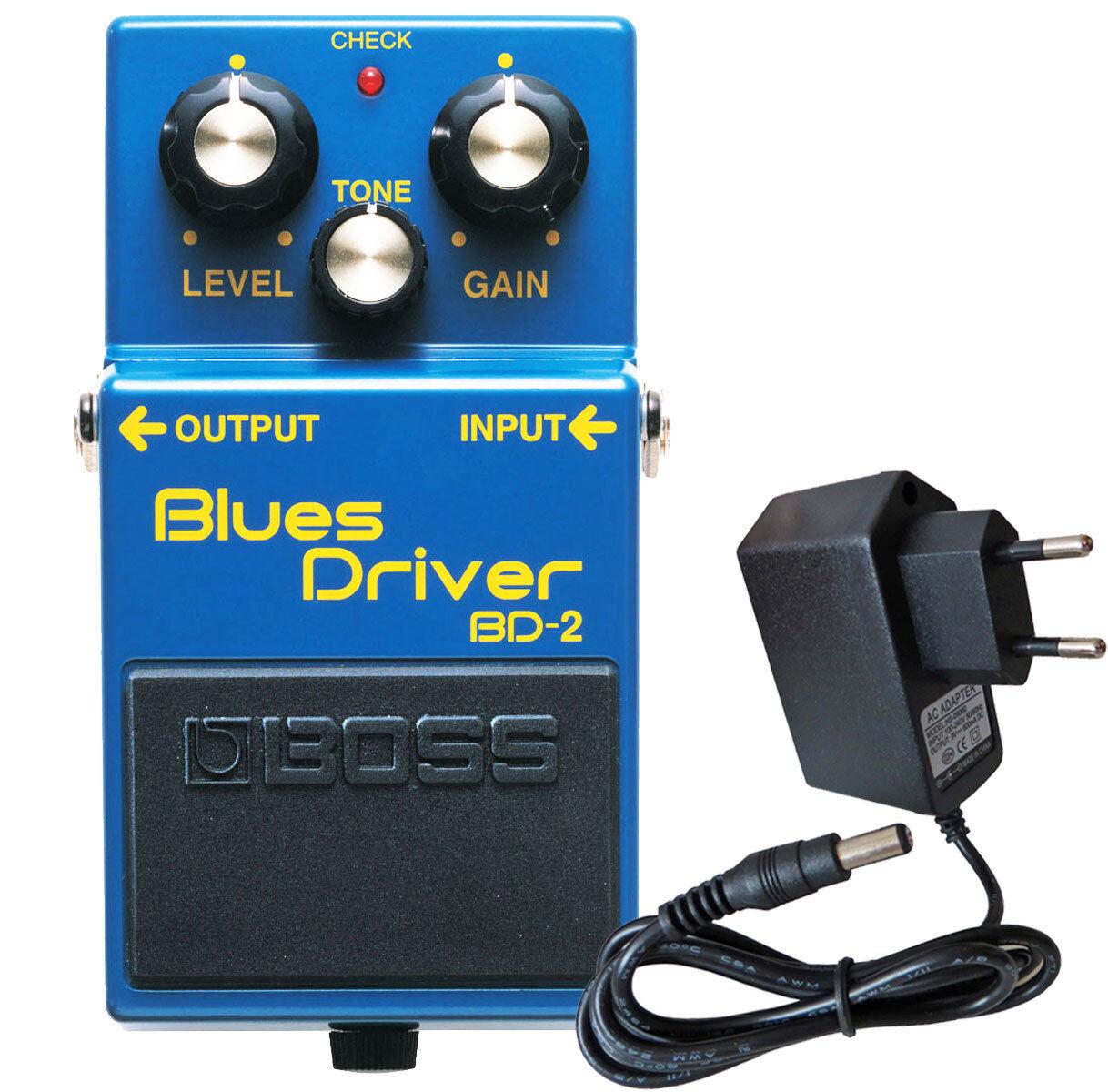 Boss BD-2 Blaus Driver Effektgerät + KEEPDRUM Netzteil