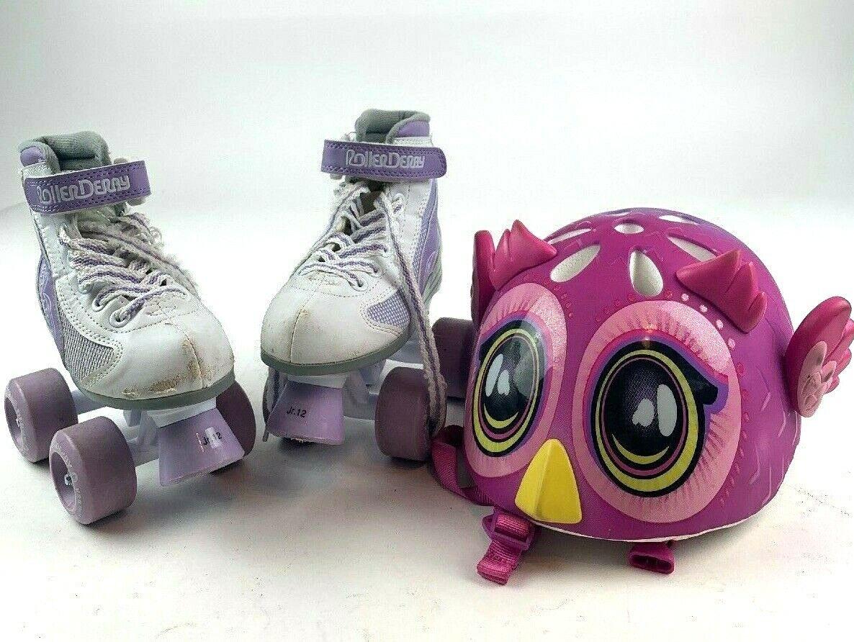 Roller Derby Girls' FIRESTAR Roller  S s White Purple Size Jr.12 w  Helmet  factory outlet online discount sale