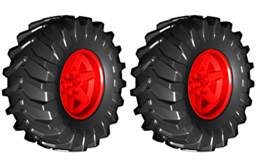 Wheels 2 Lego TRACTOR Tires technic,tire,tread,xerion,trac