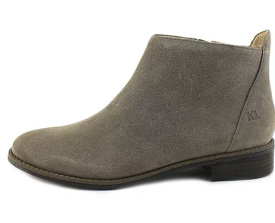 KARL LAGERFELD  Satin Suede Größe  Leder Ankle Stiefel Größe Suede 8 0b4764
