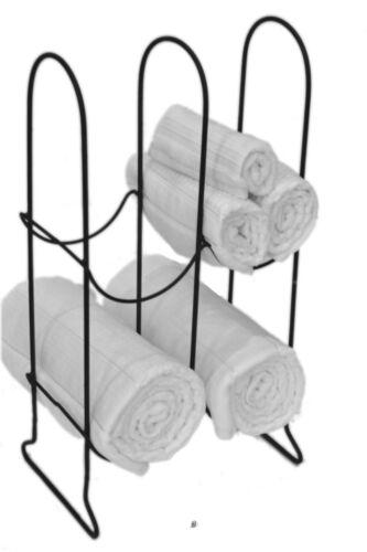 Free-Standing Guest Bathroom Bath Towel Display Rack Metal Stand Holder