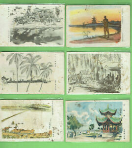 N-SIX-6-JAPANESE-WWII-POSTCARDS-USED-BY-MILITARY