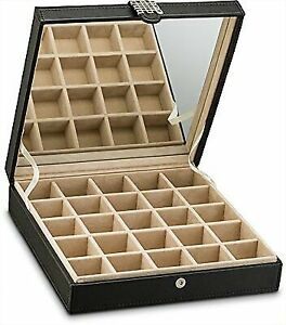 Earring Jewelry Bo Organizer Clic 25 Section Case Holder For Earrings