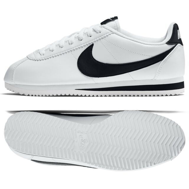 d2587ec787e0 Nike WMNS Classic Cortez Leather 807471-101 White Black White Women s Shoes