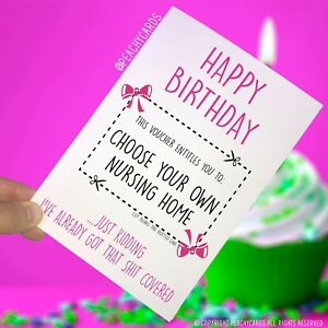 Image Is Loading Funny Happy Birthday Card For Mum