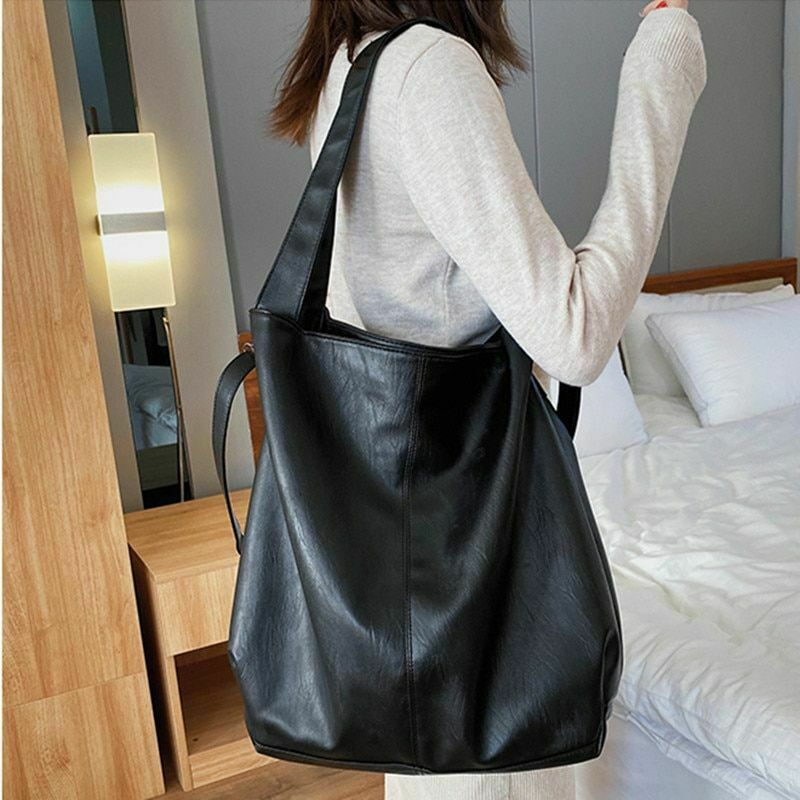 Large Capacity Handbag Hobo Quality Leather Casual Elegant Crossbody Bags Totes Clothing, Shoes & Accessories