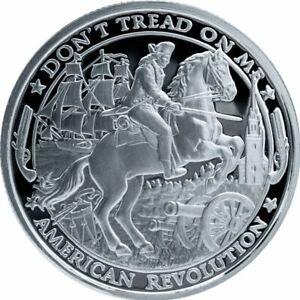 2019-Patriot-1-oz-999-Silver-Round-American-Revolution-Series-1-IN-CAPSULE