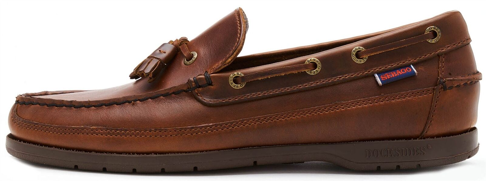 Sebago Ketch FGL Oiled Waxy Leather Moccasin Regular & Wide Width shoes in Brown