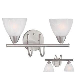 nickel 2 light bathroom vanity wall lighting bath light fixture ebay