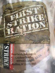 First Strike Ration 24HR MRE MENU #2 Italian Style Sandwich. 3 Meals Vac. Sealed