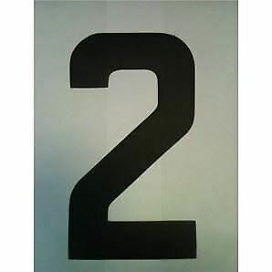 """9"""" Standard Style Race Number No.2 in Black sold Each"""