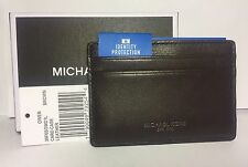 MICHAEL KORS Owen CARD CASE wallet FRID Credit $48 GIFT Box BROWN LEATHER Mens