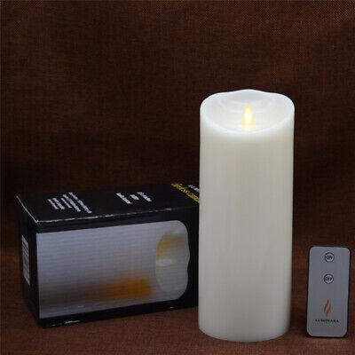 Luminara Flameless Scented Rustic Finish Wavy Edge Realistic Flame Candles 2pcs