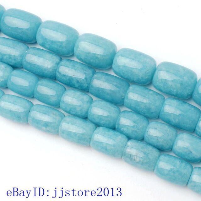"12x16-15x20mm Natural Light Blue Aquamarine Column Shape Loose Beads Strand 15"""