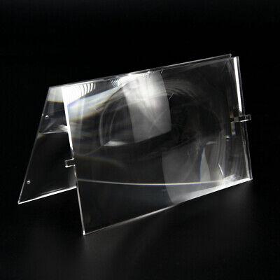 2pcs Plastic Fresnel Lens Solar Focal Length 185mm 120mm ...