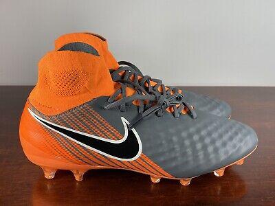 Orange Grey AH7308-080 Nike Mens Magista Obra II Pro DF FG Soccer Cleats Multi