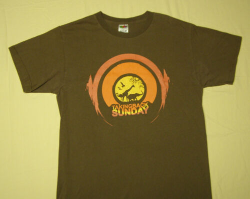 Taking Back Sunday Concert Tour T-Shirt Brown size