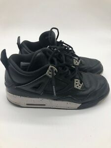 "fcd7c62c0710 NIKE AIR JORDAN 4 RETRO BG ""OREO"" (408452-003) BASKETBALL SHOES BOYS ..."