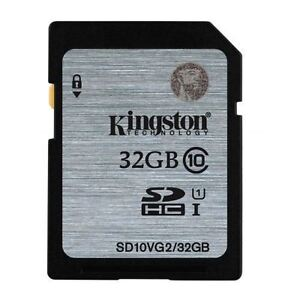 Sd Karte Class 10.Details Zu Kingston 32gb Sdhc Memory Card Class 10 45mb S Uhs I Fast Speed Sd Card New